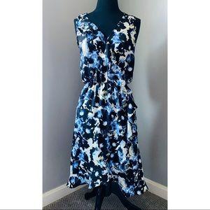 Flowy Ruffle Abstract Dress